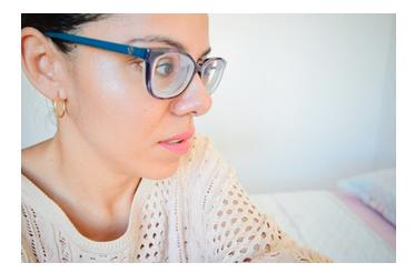Óculos tratando um alto astigmatismo ou alta miopia